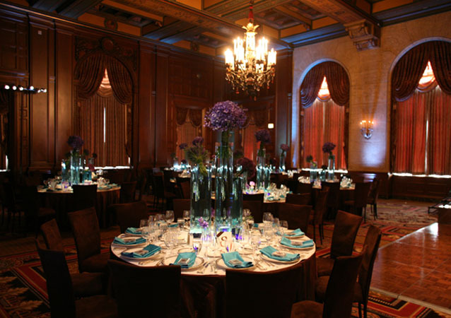 LA Wedding Planner Wayne Gurnick: full service Bar Mitzvah reception design, planning and coordination at Jonathan Club, Downtown LA