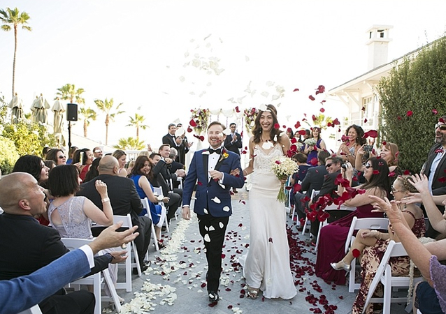 Wedding designed to showcase love, unique personality and joy, at Shutters on the Beach, Santa Monica
